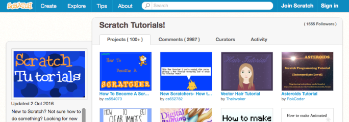 Scratch tutorials